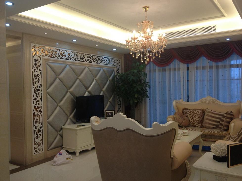 欧式客厅水晶灯吊顶效果图片装修效果图