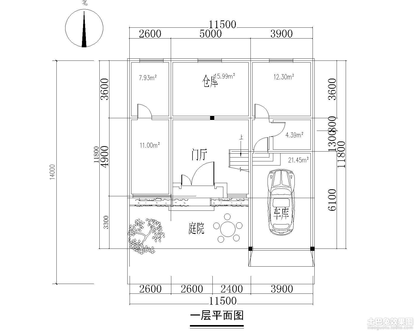 家居图库 两层半农村自建房设计图 > 第2张  共 12 张图片