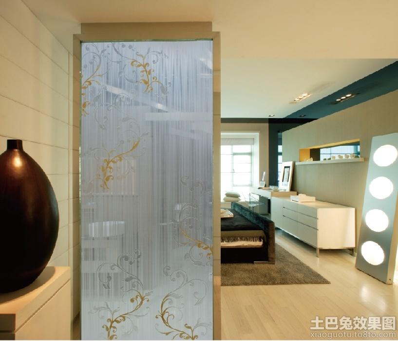客厅玄关玻璃隔断效果图装修效果图