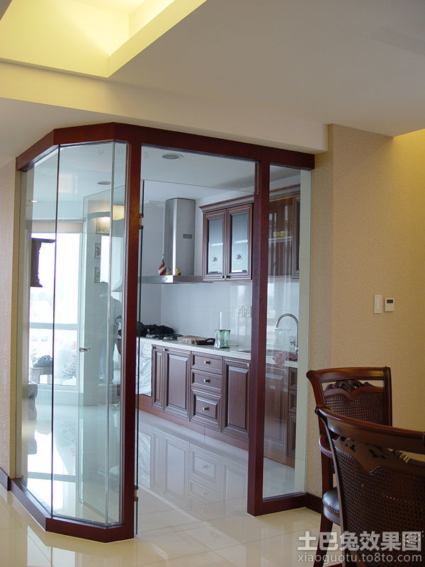 厨房玻璃隔断效果图装修效果图