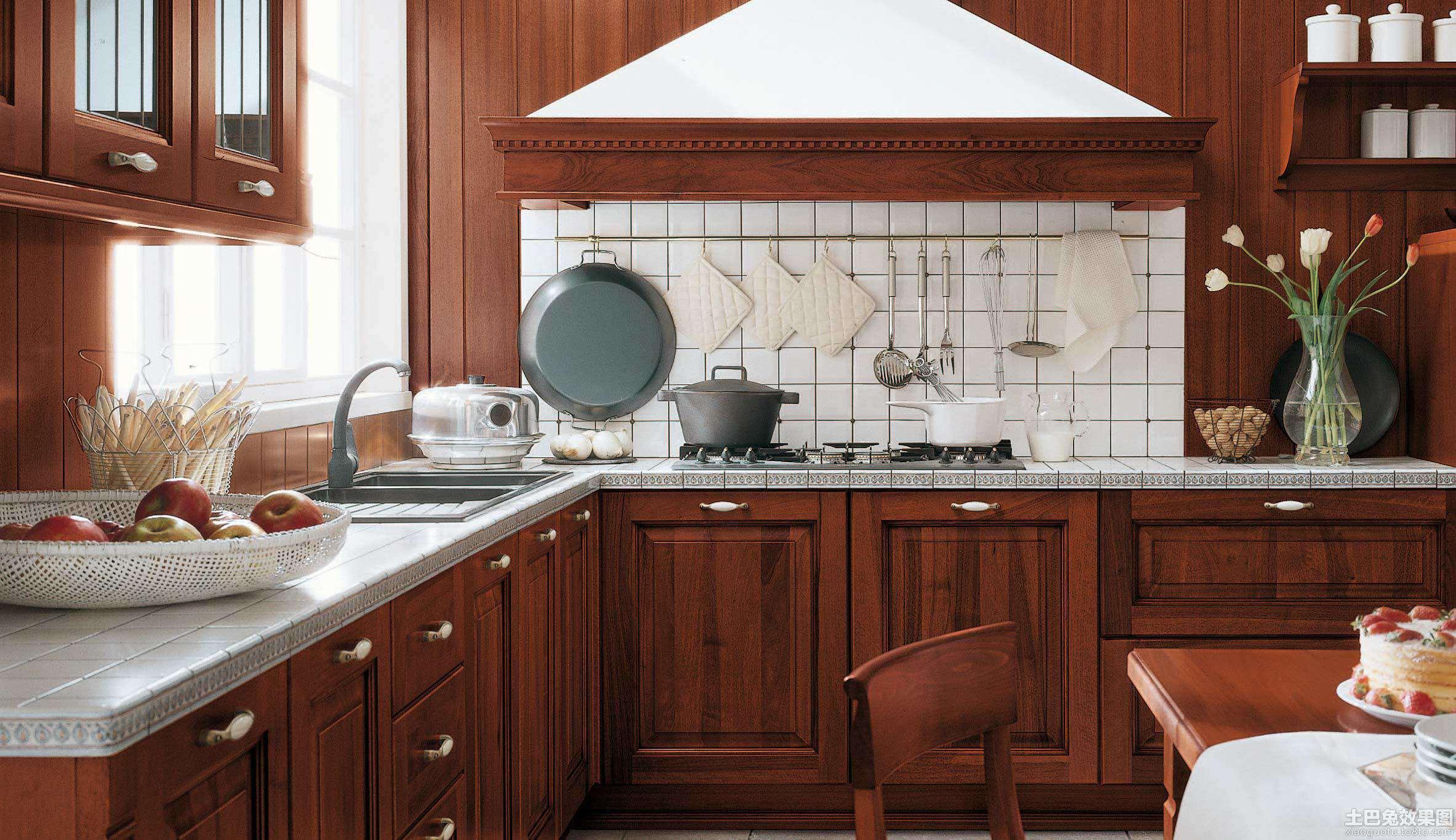 美式厨房装修装修效果图