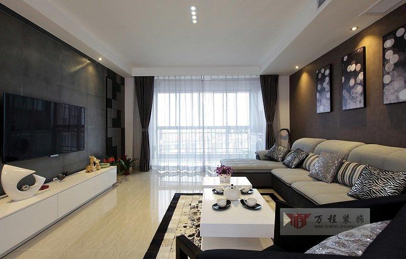 现代风格80平米小户型装修样板房高清图片