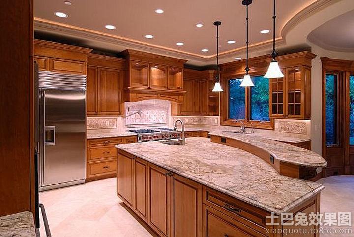 美式大理石橱柜台面设计装修效果图