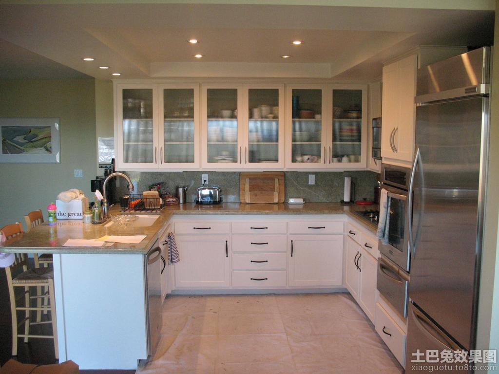 厨房玻璃橱柜效果图 (9/10)图片