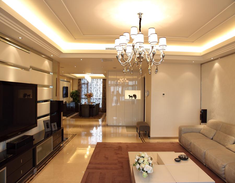 现代简装小户型客厅吊灯图片装修效果图_第3张 - 家居