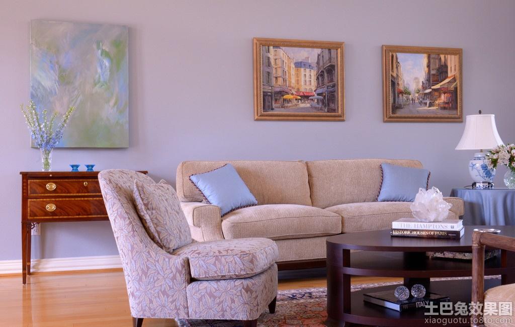 客厅装饰画油画图片装修效果图