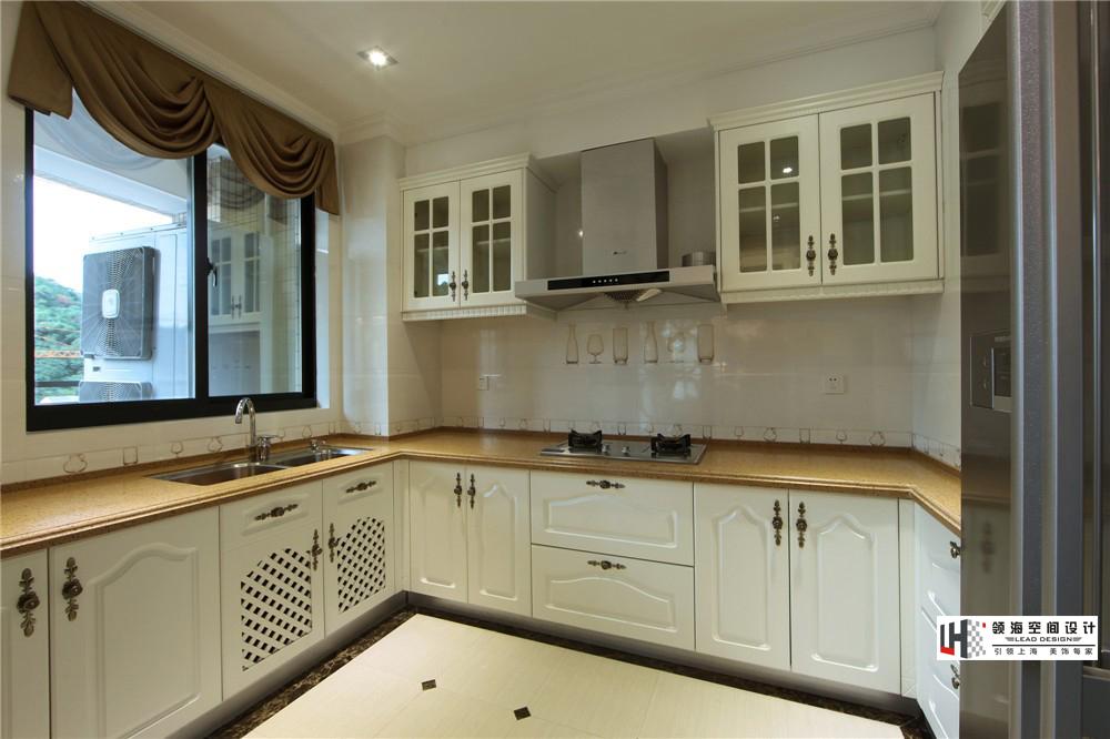u型欧式厨房橱柜效果图装修效果图