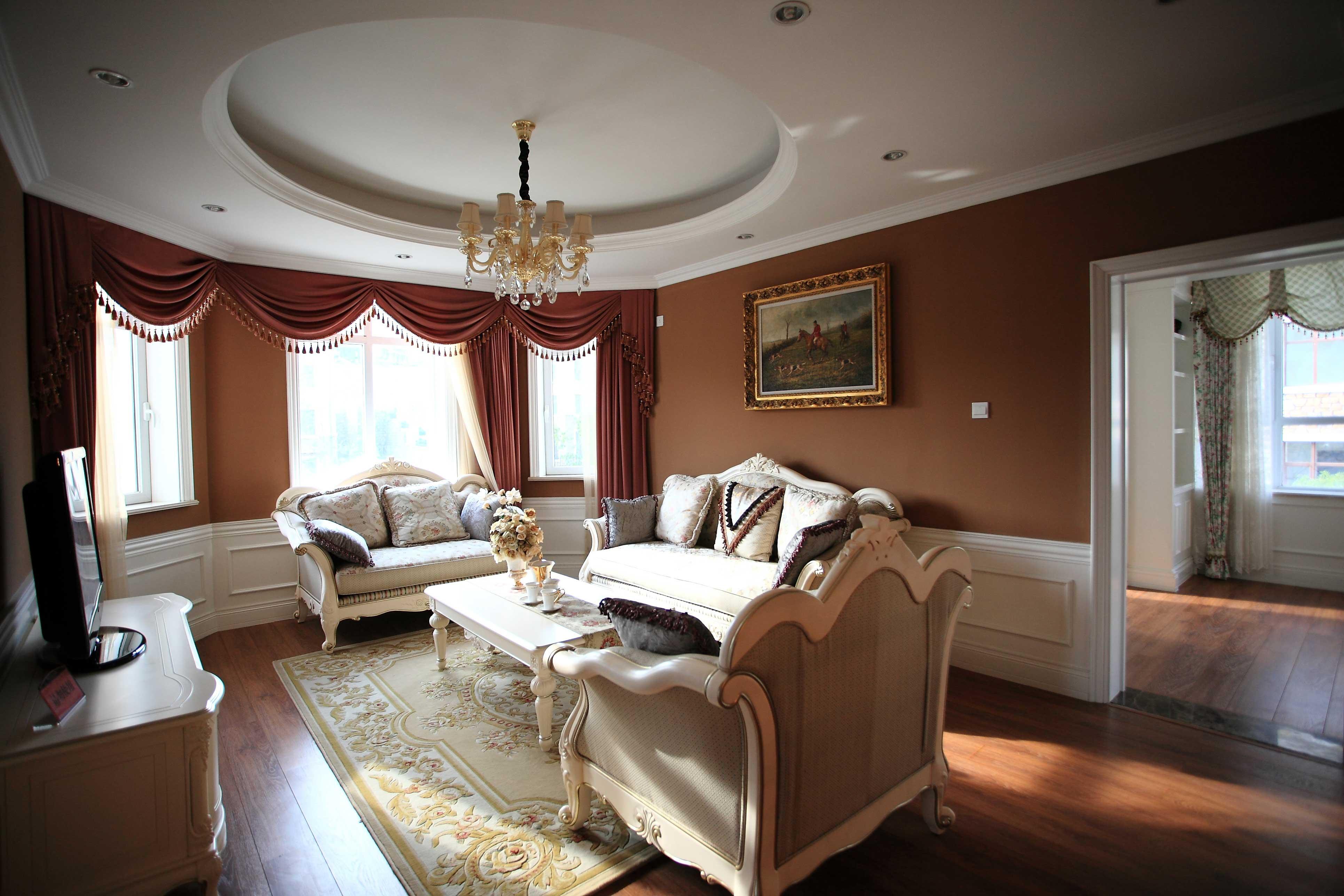 欧式风格起居室效果图装修效果图图片