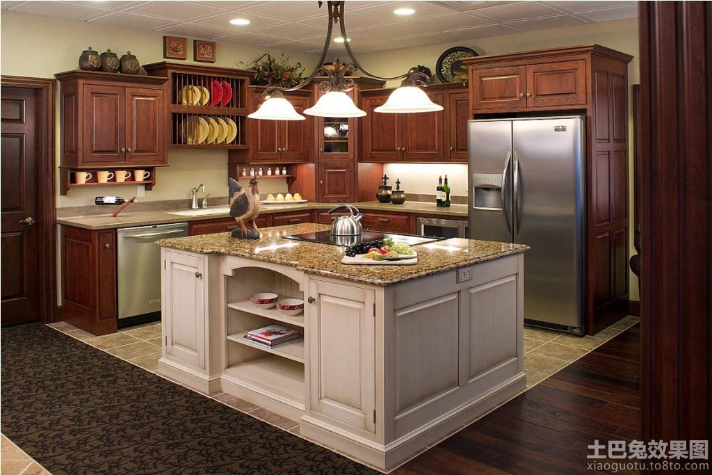 美式别墅厨房设计装修效果图