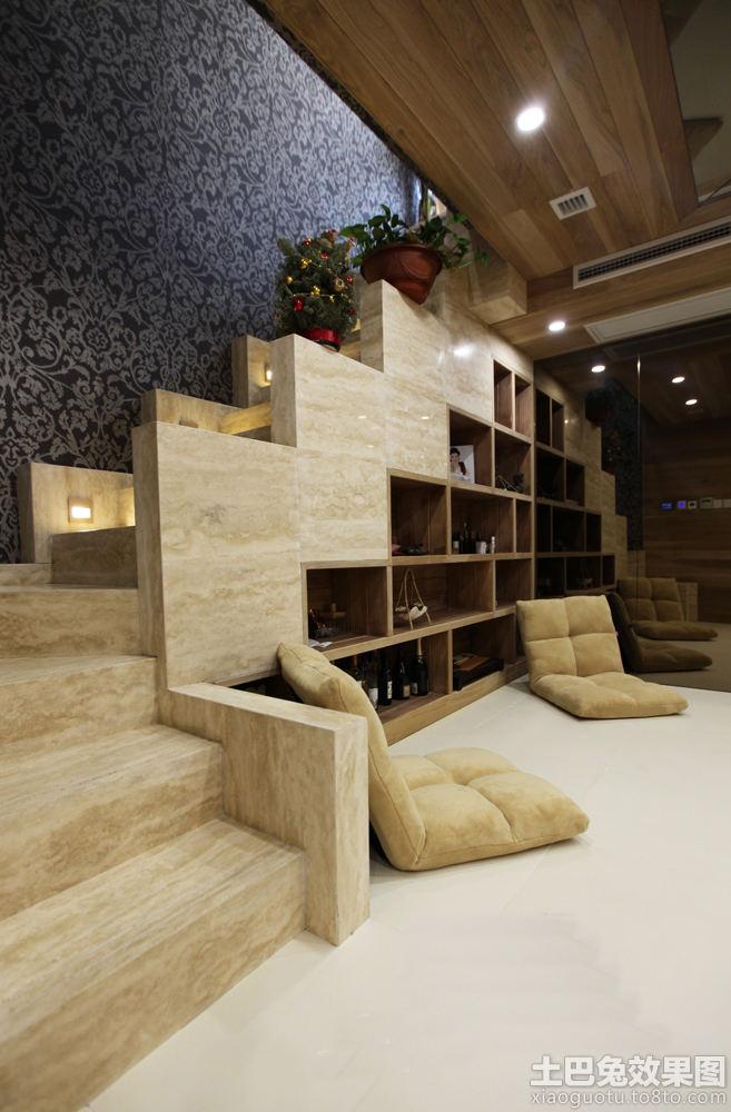 别墅室内实木楼梯装修设计效果图 (5/6)图片
