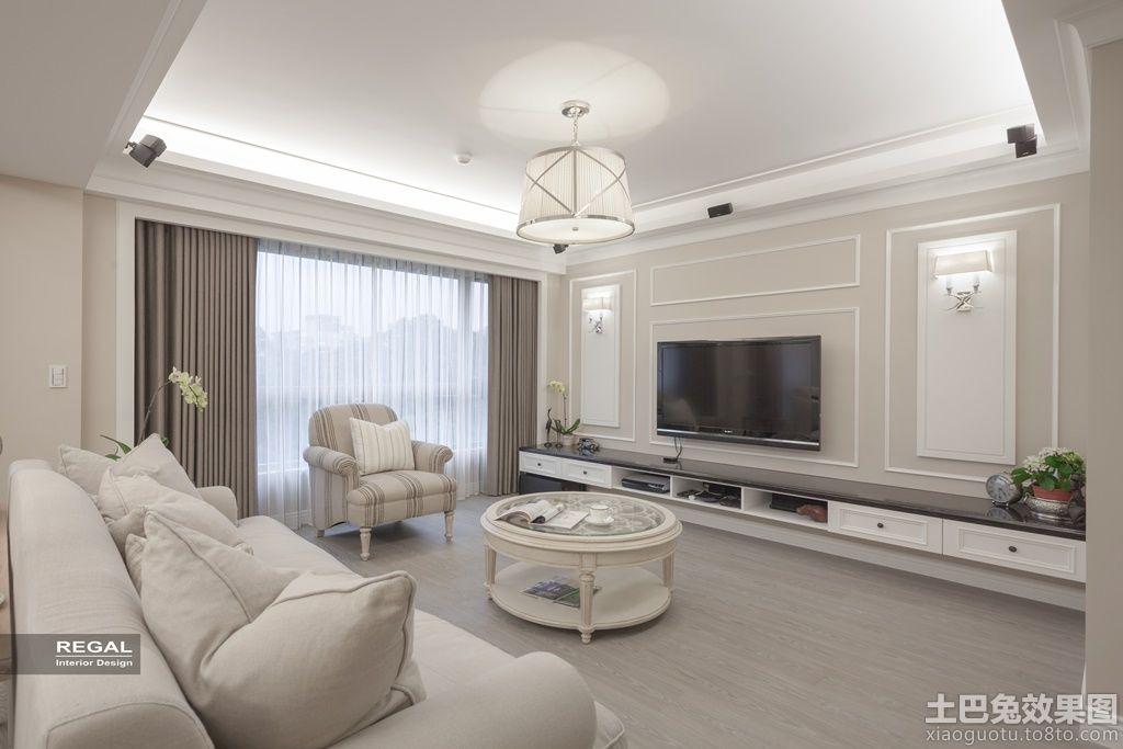 简欧式客厅电视背景墙效果图大全装修效果图