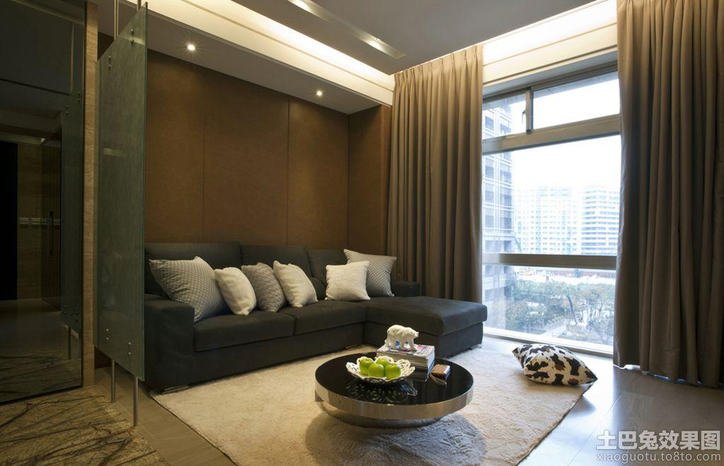 现代风格客厅玻璃隔断效果图装修效果图