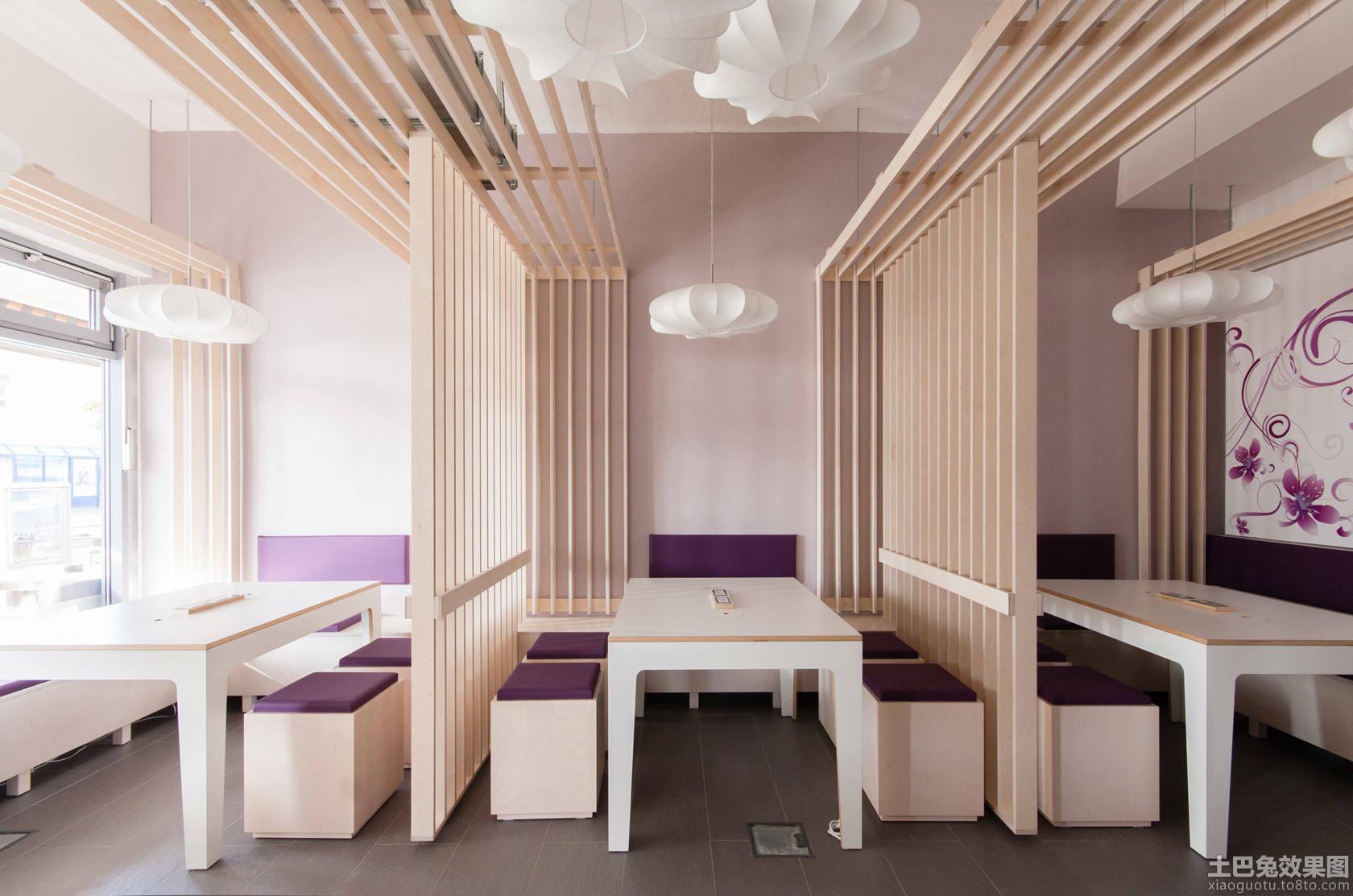 日式简约风格餐饮店面装修设计装修效果图