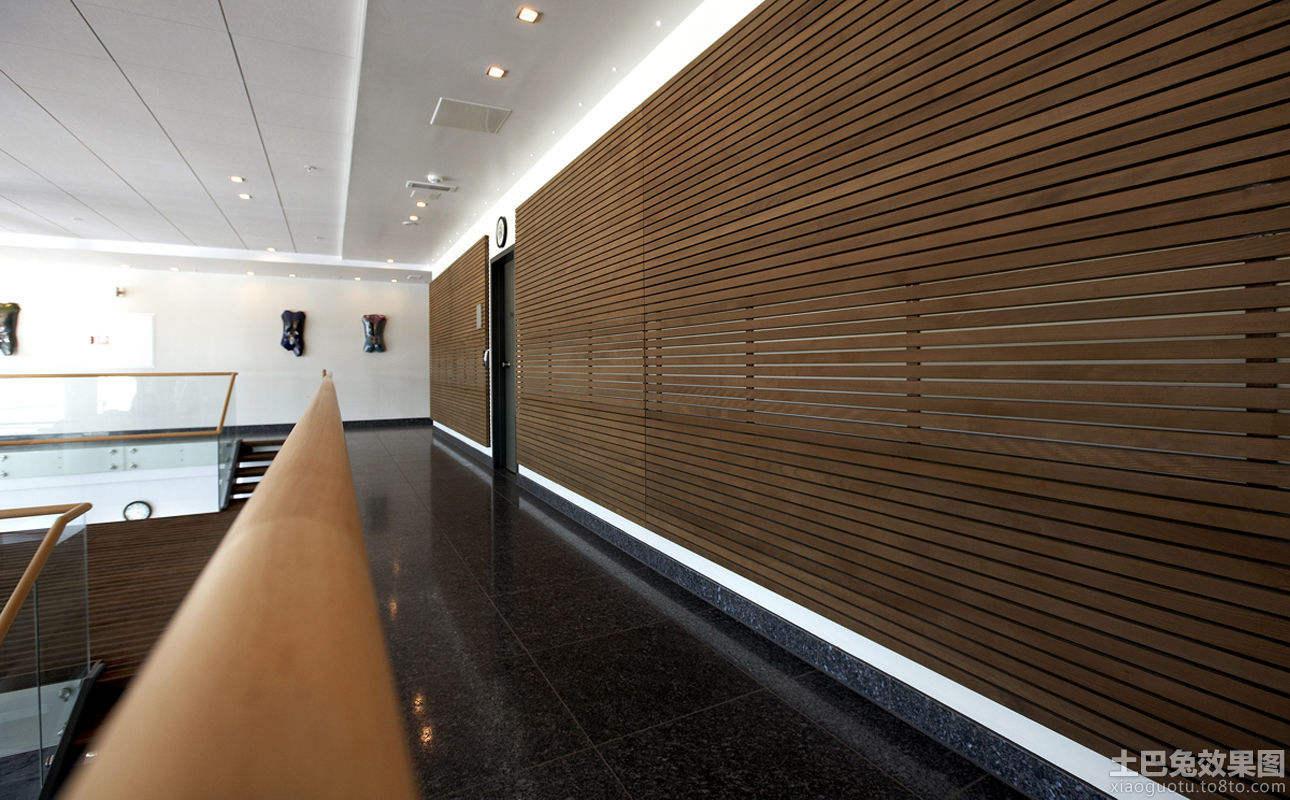 走廊原木护墙板效果图装修效果图