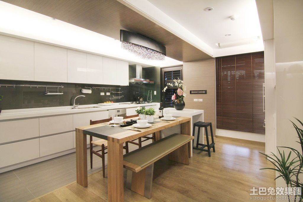 时尚家居开放式厨房餐厅装修效果图 (5/8)图片
