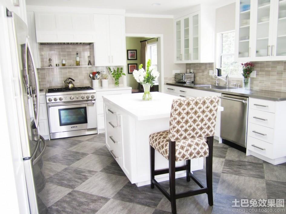 简欧风格开放式厨房装修图装修效果图