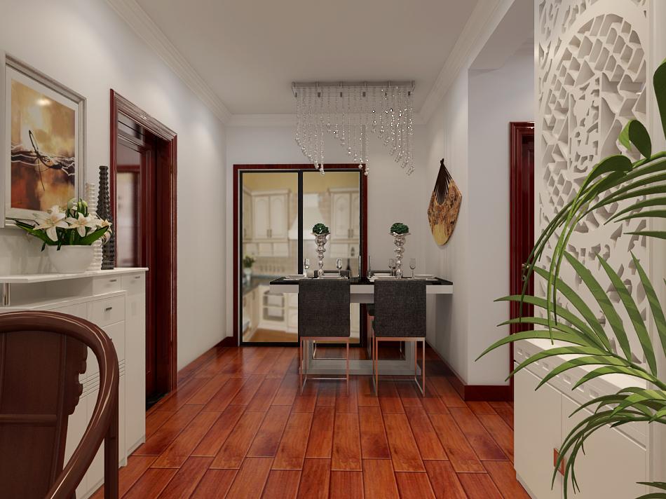 中式装修风格家庭餐厅木地板装修装修效果图