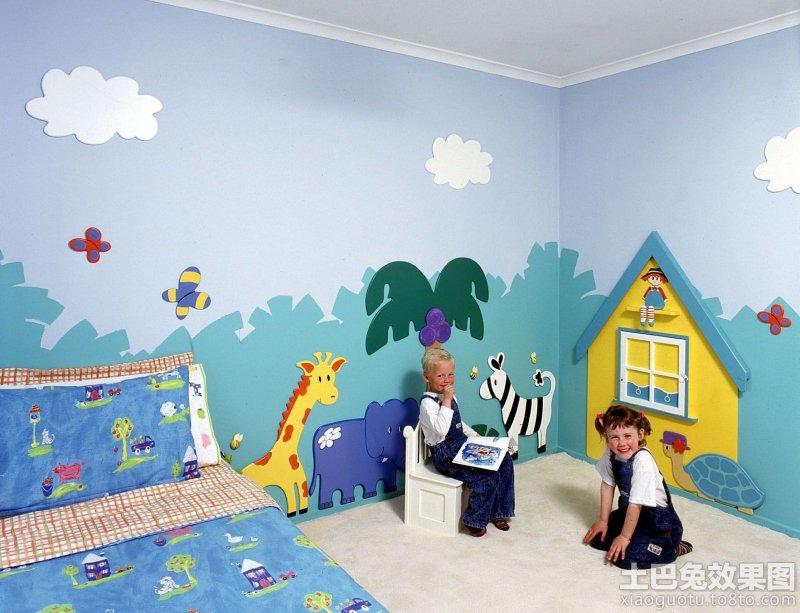 2014儿童房手绘墙效果图装修效果图