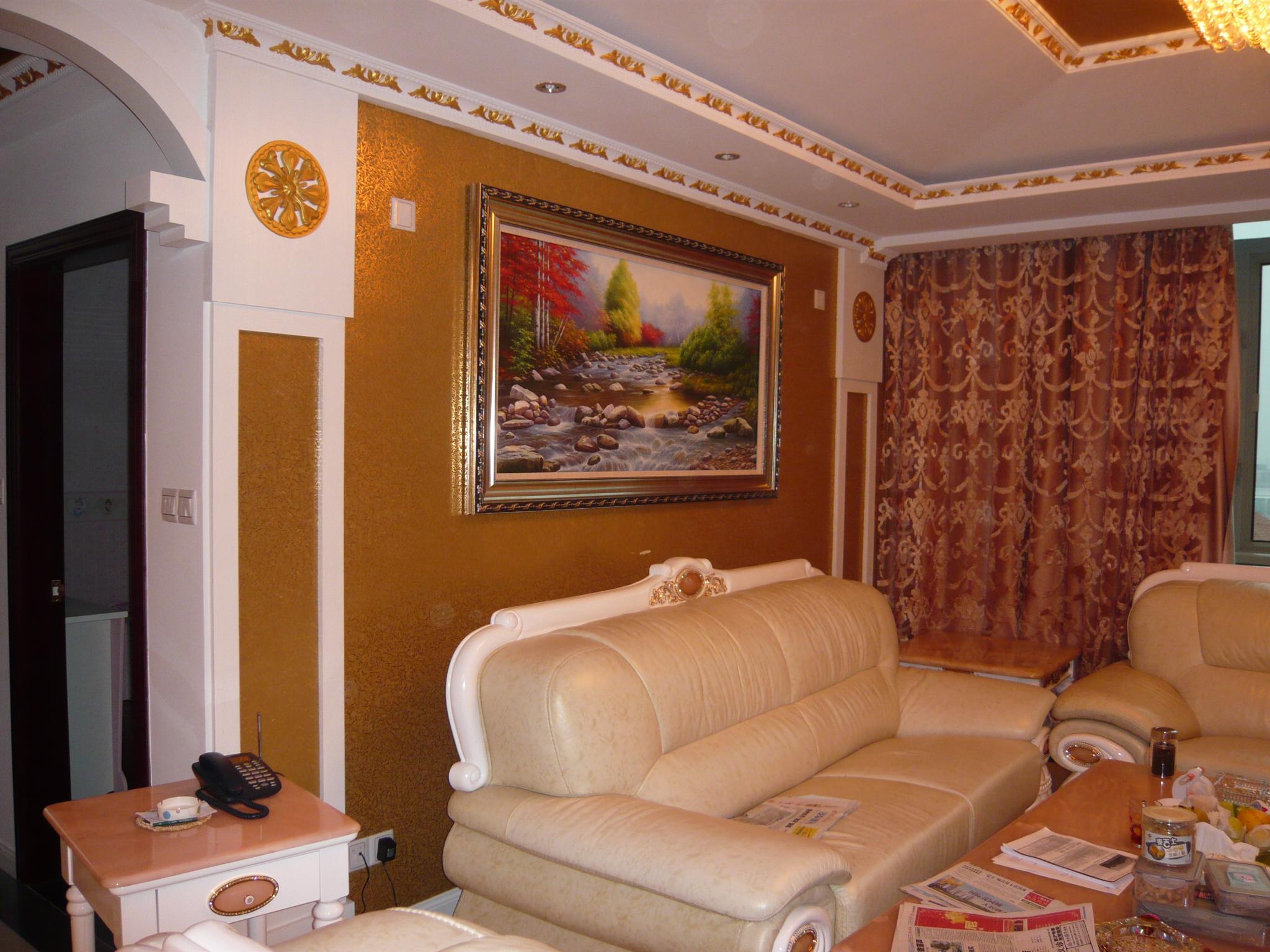 欧式风格客厅挂画效果图