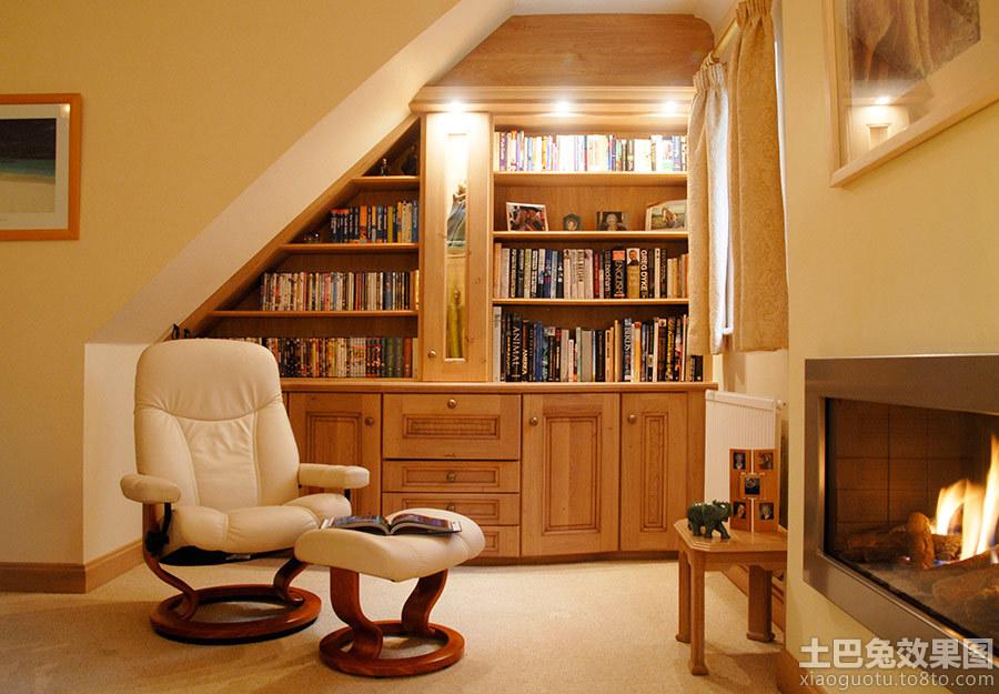 小户型阁楼书房装修效果图高清图片