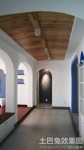 家庭走廊桑拿板吊顶效果图装修效果图 第6张 家居图库 九正家居网高清图片