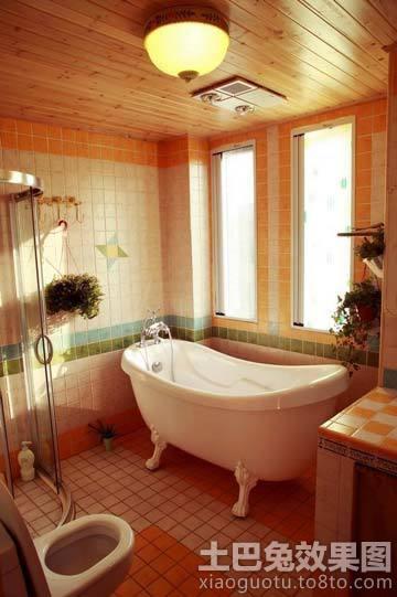 家庭卫生间桑拿板吊顶效果图装修效果图 第3张 家居图库 九正家居网高清图片
