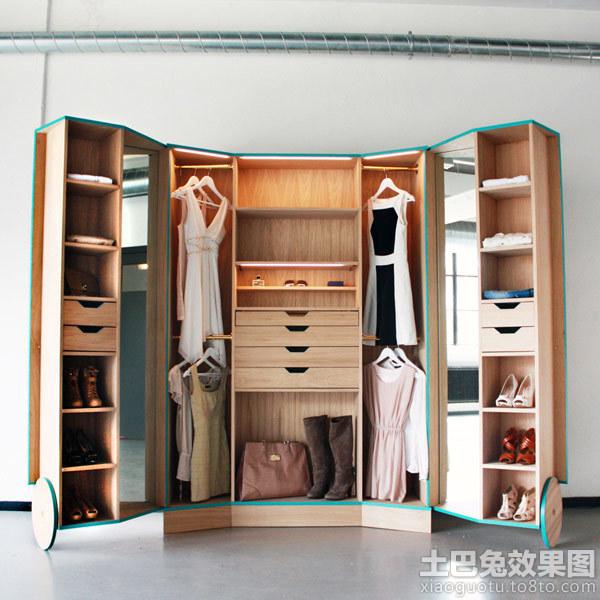 实木小型走入式衣柜设计装修效果图_第4张 - 家居图库