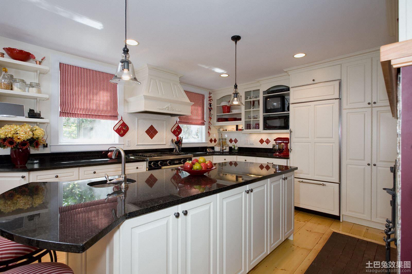 简欧式整体厨房装修设计装修效果图