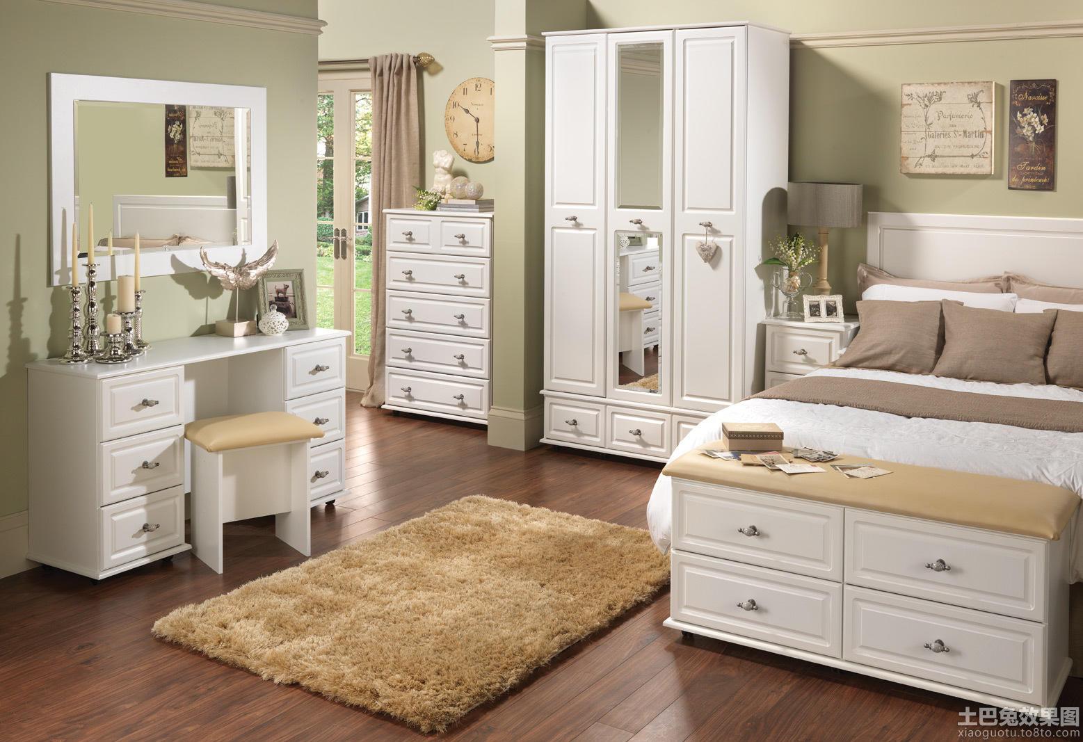 卧室简欧式白色家具图片装修效果图图片