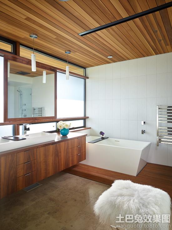 浴室桑拿板吊顶效果图欣赏装修效果图 第4张 家居图库 九正家居网高清图片