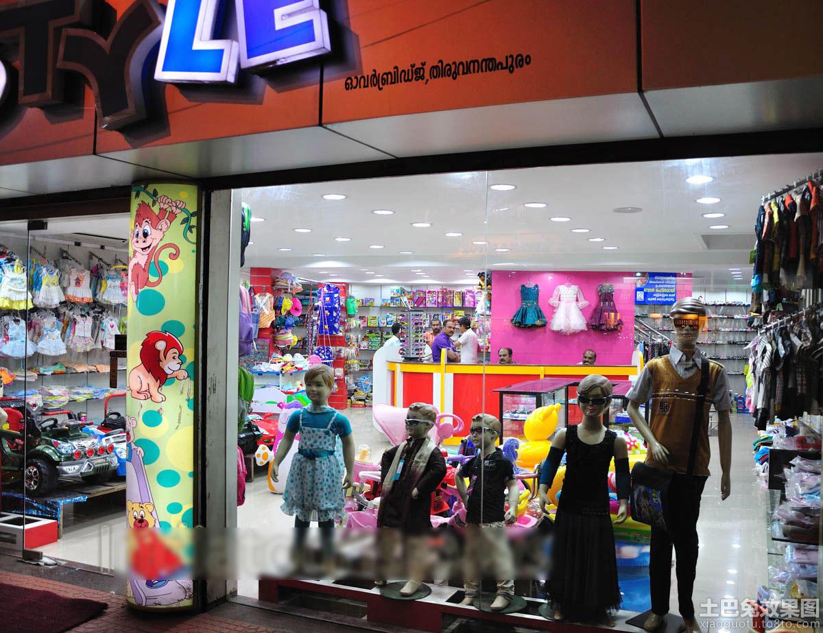 童装店橱窗装修效果图