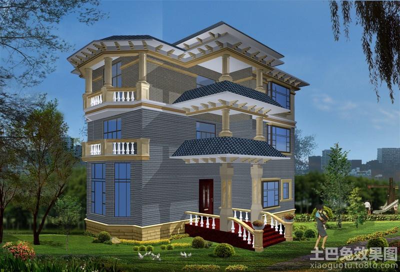三层新农村别墅设计图装修效果图