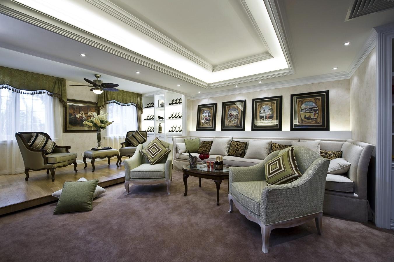 欧式风格家庭休闲区吊顶装修设计装修效果图