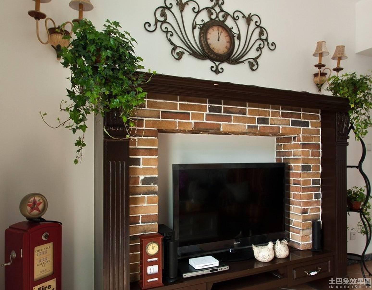 美式田园红砖背景墙装修效果图装修效果图 第1张 家居图库 九正家居网高清图片