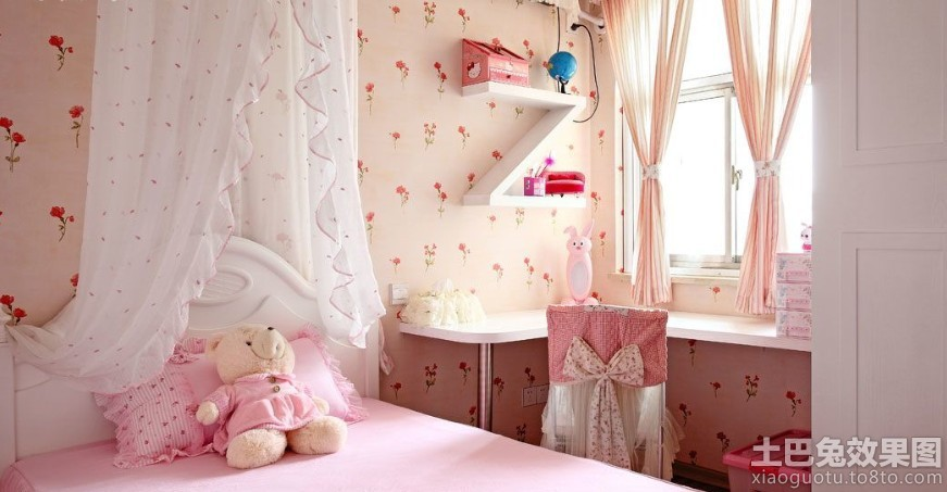 欧式女儿童房装修效果图2014装修效果图