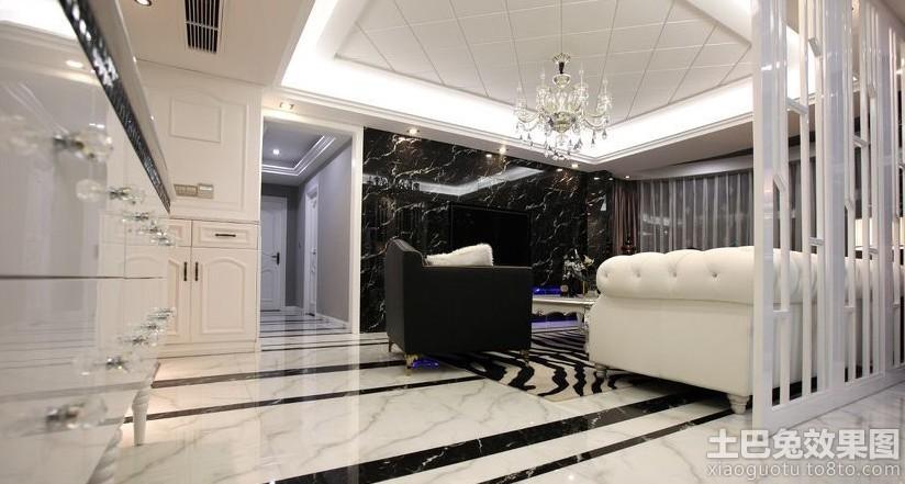 新古典风格室内大理石地板装修装修效果图