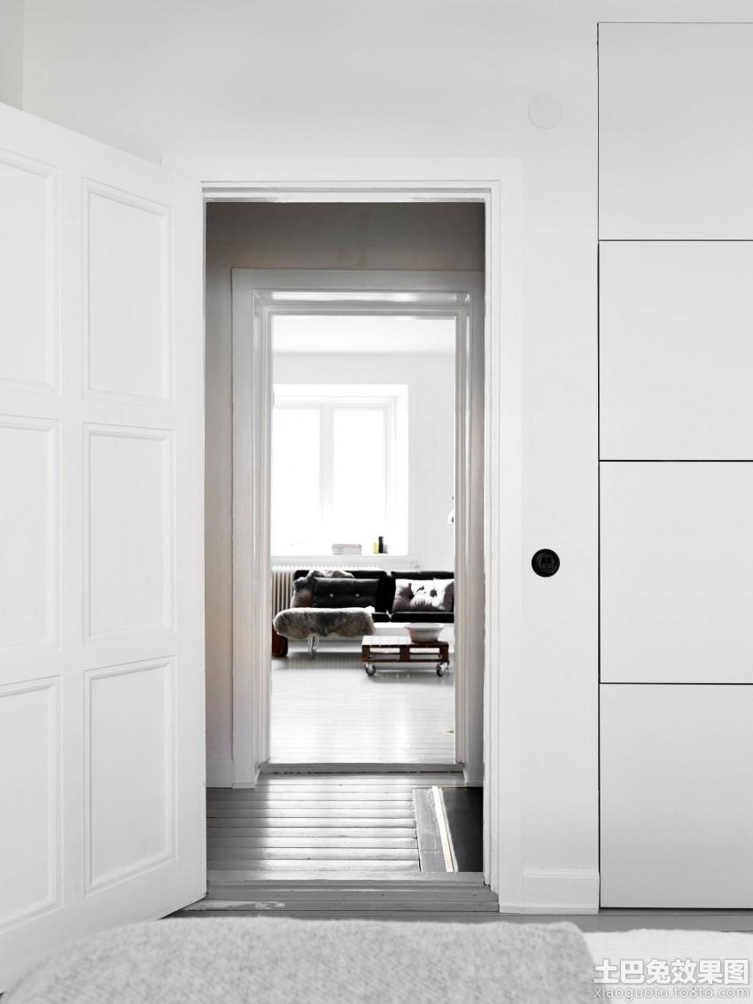 北欧家居风格白色卧室门效果图装修效果图