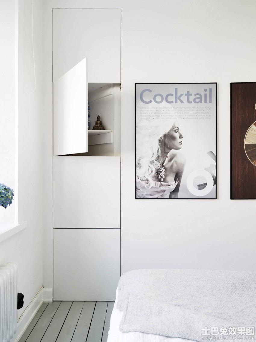 北欧风格卧室装饰画效果图欣赏装修效果图图片