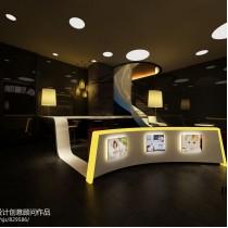 奶茶店面吧台装修效果图 (4 张图)