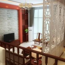 新中式客厅电视背景墙装修图片 (3 张图)图片