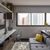 30平单身公寓装修餐厅效果图 (10 张图)