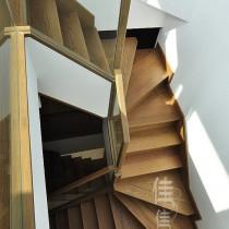 简约中式复式楼楼梯装修效果图 (20 张图)