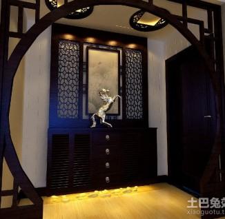 中式风格实木电视背景墙装修(3/4)
