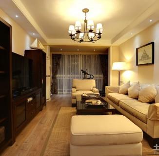 现代风格小户型客厅吊顶装修效果图-现代风格布艺沙发