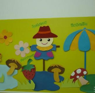 幼儿园中班墙饰布置; 音符简笔画