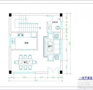 求农村建筑设计平面图-求农村5间平房建筑设计平面图东西长16.