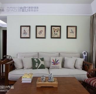 美式家庭客厅沙发照片墙图片(11/23)