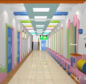幼儿园室内设计走廊效果图(10/10)
