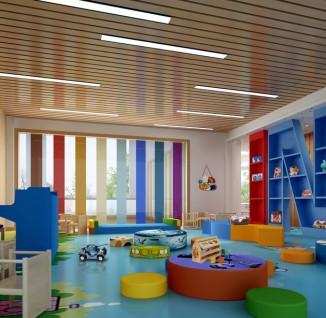 幼儿园室内设计走廊效果图(2/10)