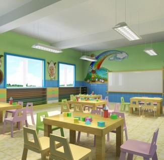 幼兒園教室桌椅布置圖片